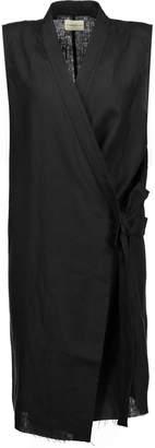 Simon Miller Nara Tie-front Linen Vest
