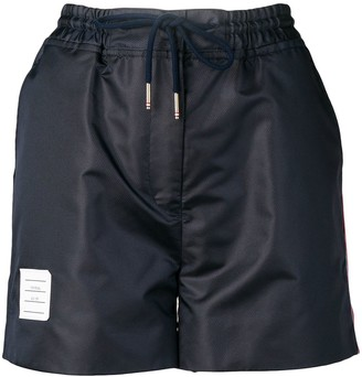 Thom Browne Navy Ripstop Track Shorts