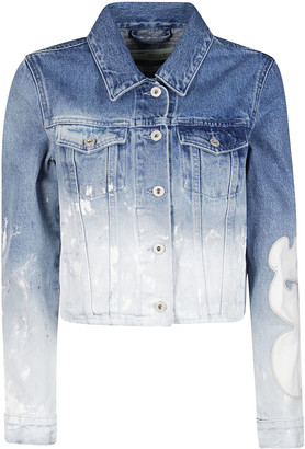 Off-White Distressed Panelled Denim Jacket