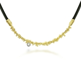 Orlando Orlandini Flirt - Diamond 18K Yellow Gold and Rubber Necklace