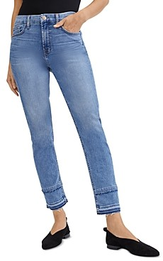 7 For All Mankind Jen7 by Distressed Hem Ankle Jeans in Harlow