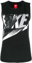 Nike logo tank top - women - Polyester/Modal - XS