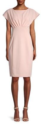 Calvin Klein Extended-Shoulder Sheath Dress