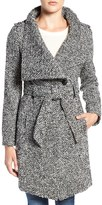 GUESS Women's Water Resistant Asymmetrical Trench Coat
