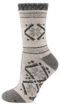 Sperry Floral Acrylic Blend Cabin Cozy Socks