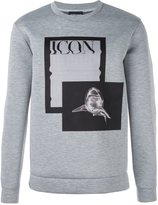 Emporio Armani 'Icon' print sweatshirt