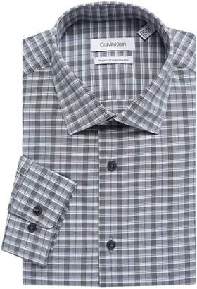 Calvin Klein Regular-Fit Plaid Dress Shirt