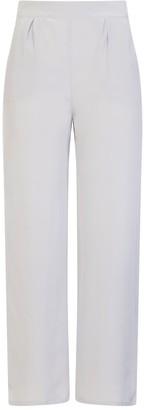Sophie Cameron Davies Silver Wide Legged Silk Trouser