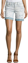 Miss Me Mid-Rise Distressed Denim Shorts, LT 98