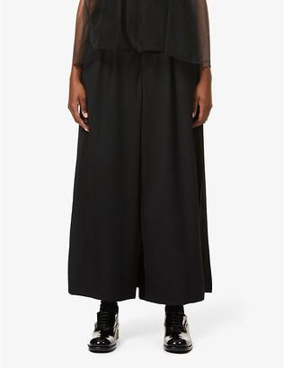 Noir Kei Ninomiya Pleated wide-leg high-rise wool-twill trousers
