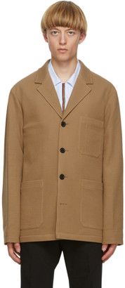 Paul Smith Tan Wool Tailored Work Blazer