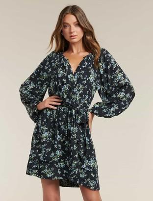 Forever New Beatrice Wrap Mini Dress - Whisper Ditsy - 14