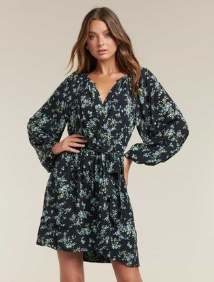 Forever New Beatrice Wrap Mini Dress - Whisper Ditsy - 4