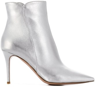 Gianvito Rossi metallic ankle booties