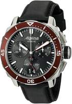 Alpina Men's AL-372LBBRG4V6 Seastrong Diver 300 Chronograph Big Date Analog Display Swiss Quartz Watch