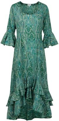 At Last... Green Paisley Victoria Dress