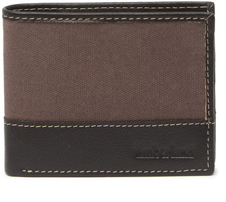 Timberland Canvas & Leather Bifold Wallet