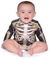 Faux Real Boys' Baby Skeleton Romper Costume