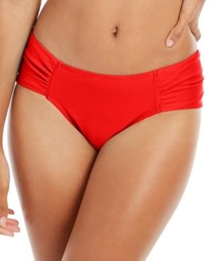 Rachel Roy Boardwalk Basics Ruched-Side Bikini Bottoms Women's Swimsuit
