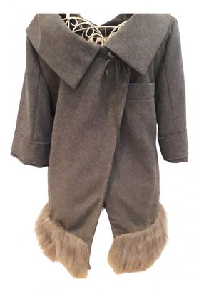 Silvian Heach Grey Wool Coats