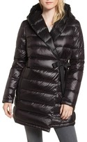 Donna Karan Women's Dkny Water Resistant Packable Down Parka With Tie Closure