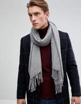 Esprit Scarf With Two Tone Knit In Grey