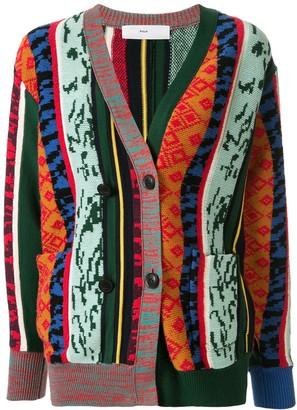 Toga Patterned Colour Block Cardigan