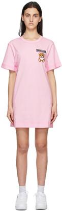 Moschino Pink Inside Out Teddy Bear T-Shirt Dress