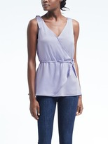 Banana Republic Easy Care Tie-Shoulder Wrap Top