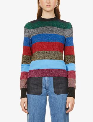 Victoria Beckham Stripe cotton-blend jumper