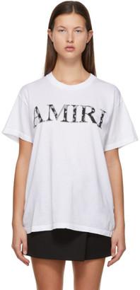 Amiri White Bandana Logo T-Shirt