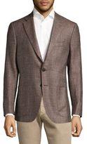 Isaia Wool & Silk Regular-Fit Blazer