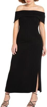 ELOQUII Off the Shoulder Dress