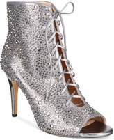 INC International Concepts Rikelie Evening Peep-Toe Lace-Up Booties, Created for Macy's
