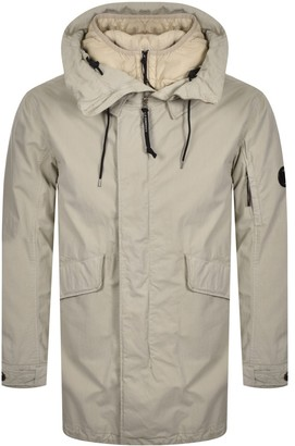 C.P. Company Hooded Parka Jacket Beige