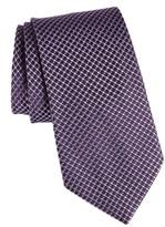 John Varvatos Men's Check Silk Tie