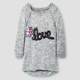Miss Chievous Girls' Sequins #Love High Low Tunic - Grey