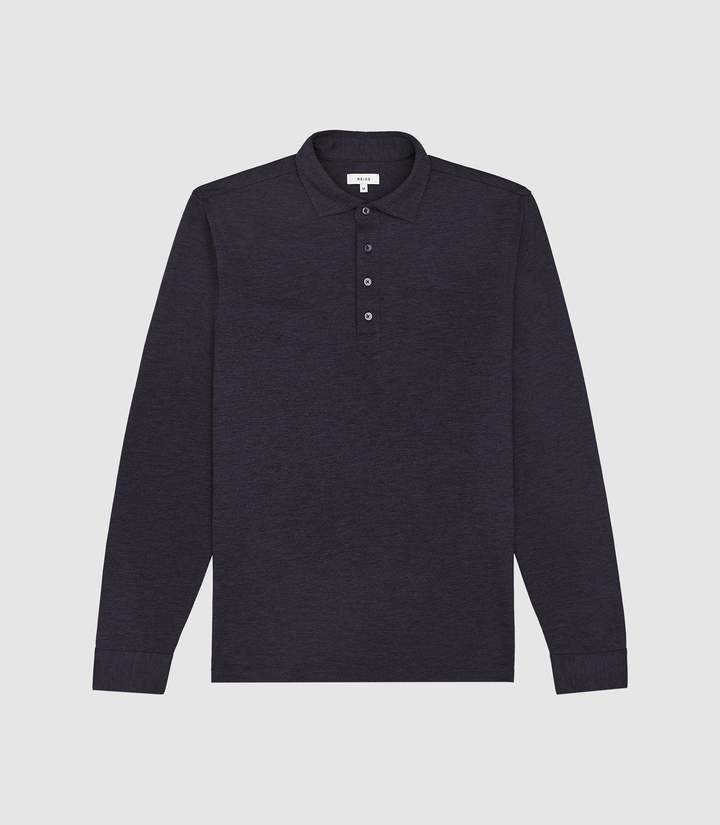 449002d05 Zen - Long-sleeved Polo in Navy