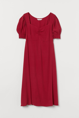 H&M MAMA Creped Dress - Red