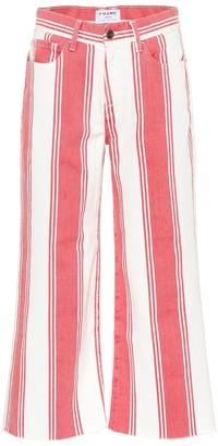 Frame Vintage Crop striped jeans