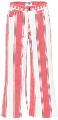 Frame Vintage Crop striped jeans