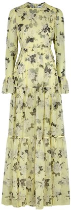 Erdem Alvaro floral-print silk gown