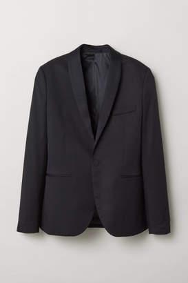 H&M Slim Fit Tuxedo Jacket - Black