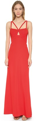 BCBGMAXAZRIA Azria Women's Kelbie Gown with Cut Out