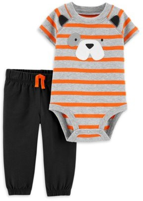 Child of Mine by Carter's Baby Boys' Short Sleeve Bodysuit and Pants Outfit Set, 2 pc set