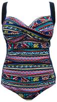 Poolproof D Ruched Cross Front One Piece