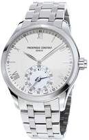 Frederique Constant Gents Horological Smartwatch w/Bracelet Strap, Silver/White