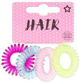Superdrug Slatwall Spiral Hair Multi Bands 4 Pack