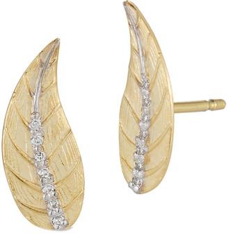 I. Reiss 14K 0.06 Ct. Tw. Diamond Earrings