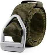 JasGood Men's Nylon Military Style Casual Army Outdoor Tactical Webbing Buckle Belt (, Green-)